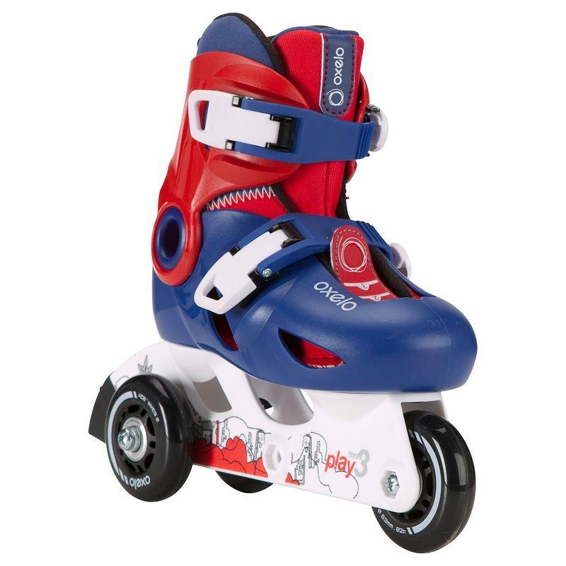 roller-enfant-play-3-bleu-rouge